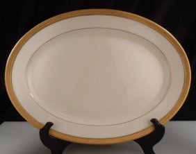 "Lenox China Lowell Oval Platter 13.5"""
