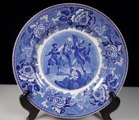Wedgwood Blue & White Spirit Of 76 Yankee Doodle Plate