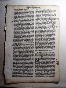 1537 Czech Bible Leaf