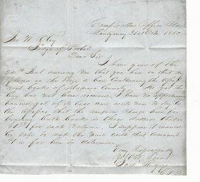 1850 Folded Letter Montgomery Alabama