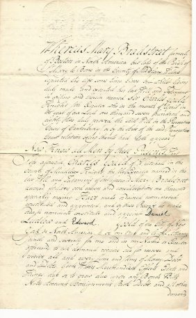 1786 Manuscript Document Signed James Duane Rare