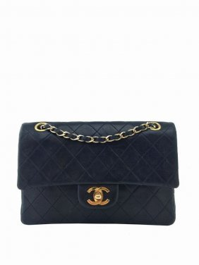 Chanel Vintage Quilted Lambskin Small Classic Double