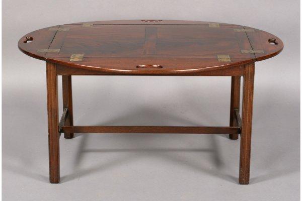 562 ANTIQUE ENGLISH MAHOGANY BUTLER TRAY COFFEE TABLE Lot 562