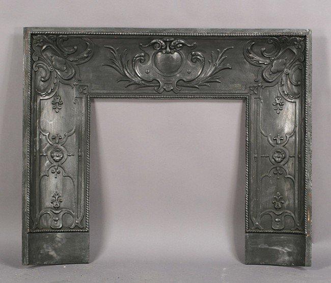 35 Antique Cast Iron Fireplace Insert Lot 35