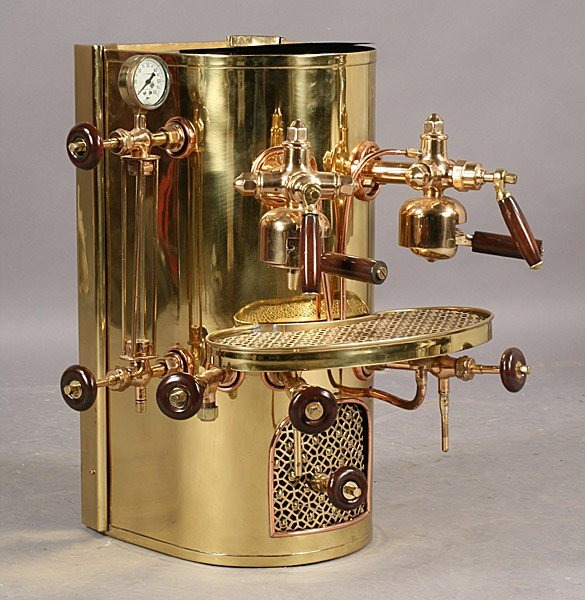 566 vintage imesa brass copper espresso coffee machine lot 566 - Machine a cafe vintage ...