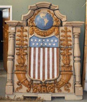 MONUMENTAL TERRACOTTA PLAQUE AMERICA C.1925