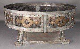 MONUMENTAL GOTHIC STYLE STEEL MESH FIRE PIT