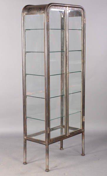 102 vintage metal glass vitrine lot 102. Black Bedroom Furniture Sets. Home Design Ideas