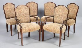 SET 6 GEORGE III STYLE DINING CHAIRS C.1950