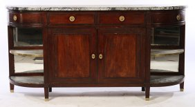 19th Cent. Mahogany Marble Top Sideboard
