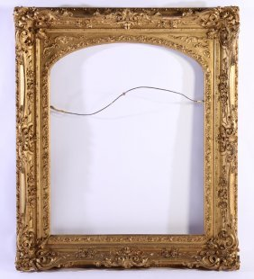 Late 19th C. Giltwood Gesso Carved Frame