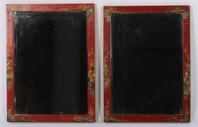 Pair Of Chinoiserie Decorated Mirrors
