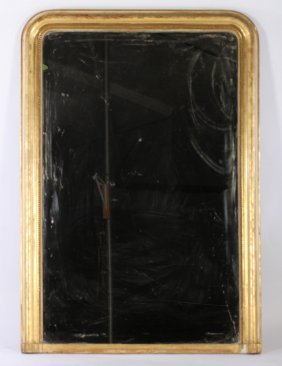 19th C. French Louis Philippe Gilt Wood Mirror