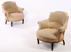 Pair French Napoleon Iii Chairs Circa 1870