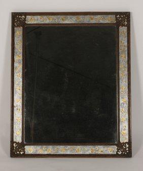 Jansen Eglomise Mirror Gesso Carved Circa 1940