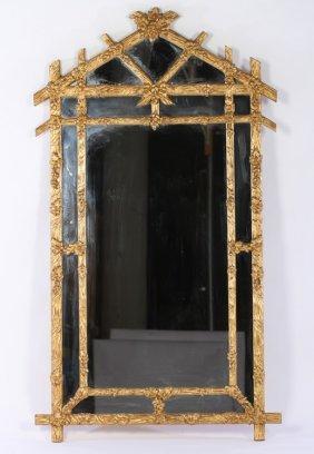 Gitlwood Gesso Faux Bois Carved Mirror