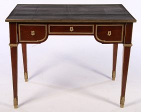 A Bronze Mounted French Louis Xvi Leather Desk