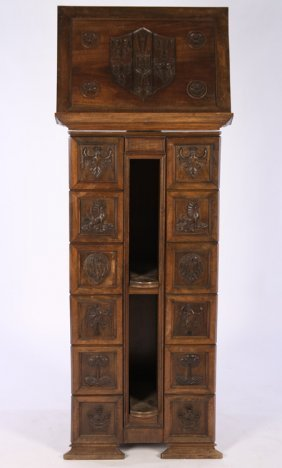 19th Cent. Walnut Revolving Libary Book Stand