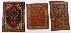 Lot Of 3 Persian And Caucasian Rugs