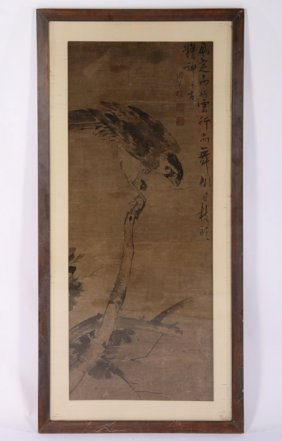 Signed Antique Chinese Mixed Media On Paper