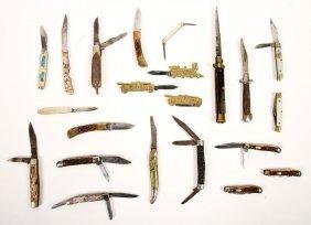 Lot Of 23 Vintage Knives C.1940-1950