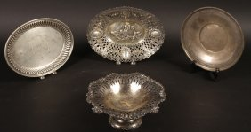4 Piece Silver 800 Silver Sterling Platters