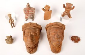 Mixed Lot 8 Ethnographic Terracotta Items