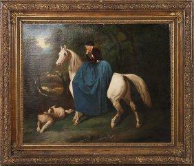 Manner Of Alfred De Dreux Woman On Horse