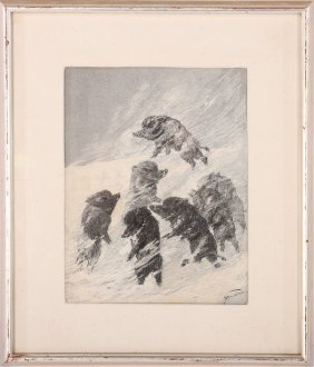 Theophile Alexandre Steinlen Signed Ink On Paper
