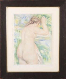 """Jacques Villon After Renoir """"the Bather"""" C.1923"""