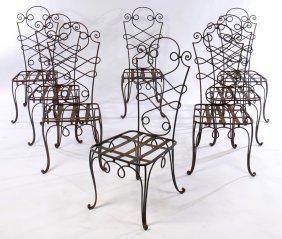 Gilbert Poillerat Wroughtiron Garden Chairs 1940