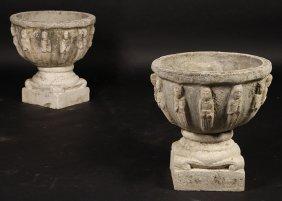 French Cast Stone Renissance Garden Urns