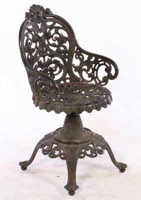 19th Cent. Victorian Cast Iron Garden Chair
