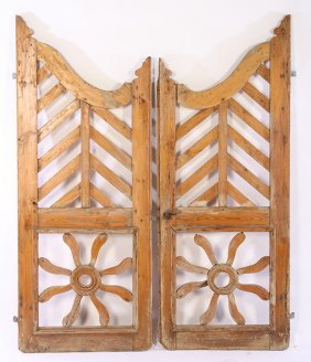 Pair Of French Wood Garden Gates