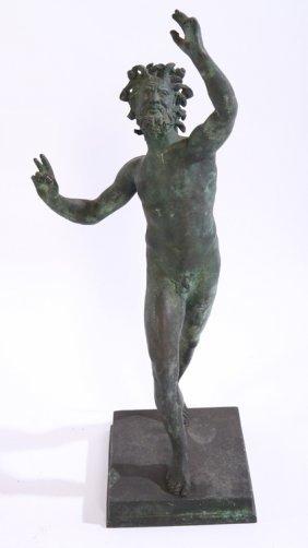 Italian Signed Fond C. Lonen Napoli Bronze Hermes