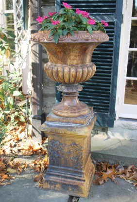 Pair English Terracotta Campana Urns Circa 1830