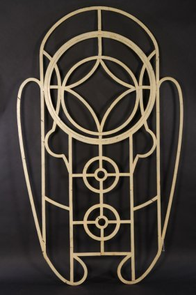 Art Deco Wrought Iron Window Frame C.1920