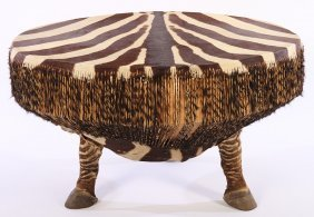 Interesting Zebra Side Table Drum Natural Top