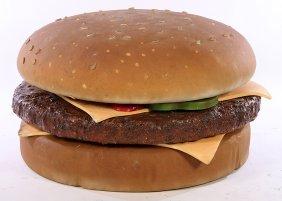Large Advertising Display Sculpture Cheeseburger