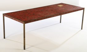 Iron Coffee Table With Mosaic Top Tiffany Style