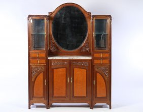 French Art Nouveau Marble Sideboard Circa 1915
