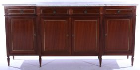 Directoire Marble Top Mahogany Sideboard 1910