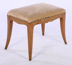 Biedermeier Style Bench Upholstered Seat