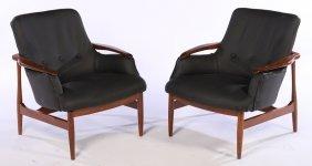Pair Mid Century Modern Chairs Attr. To Finn Juhl
