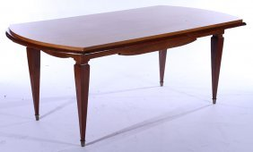 Mid Century Maple Mahogany Dining Table 1950