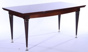Exotic Italian Mahogany Dining Table 1950