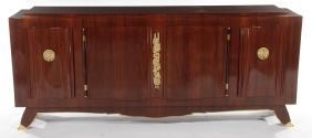 Rare Signed Leleu Macassar Bronze Sideboard 1950