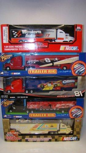 5 Various Nib Die-cast Racing Team Transporters