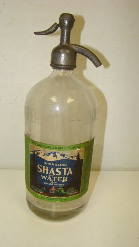 Vintage Shasta Water Seltzer Bottle
