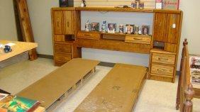 Queen Oak Pier Group Bedroom Set